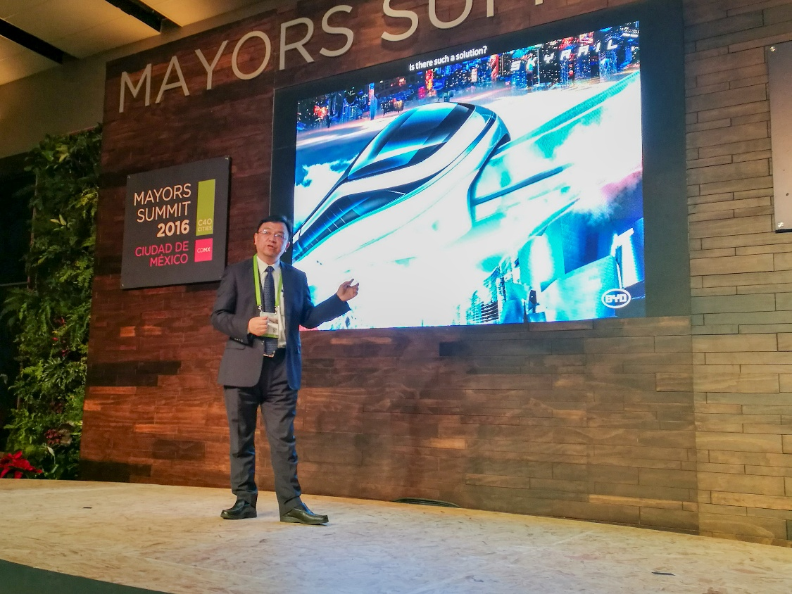 BYD Debuts SkyRail at C40 Mayors Summit in Mexico City